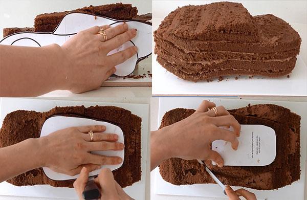 торт джип из бисквита