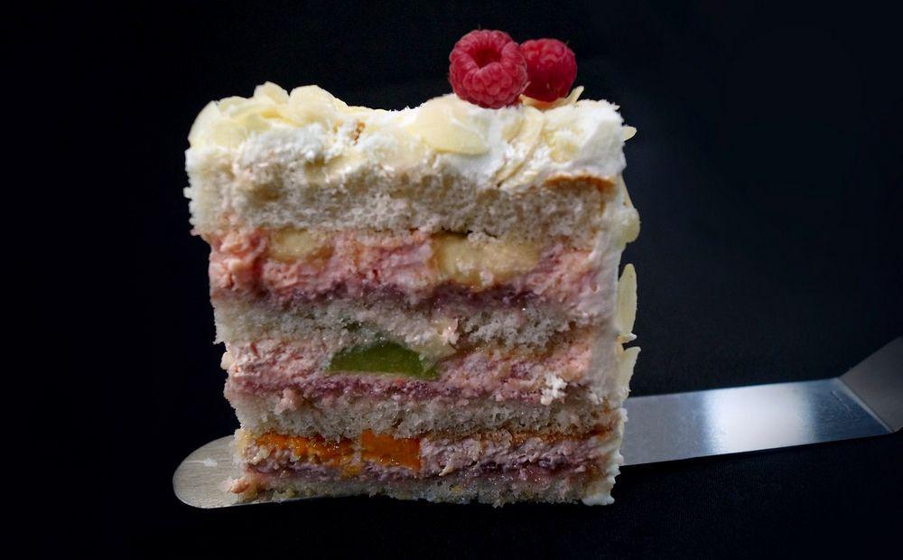 Мармеладный десерт с бисквитом