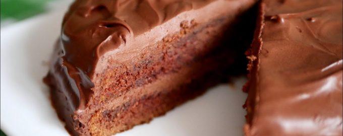 мокрый торт шоколадный