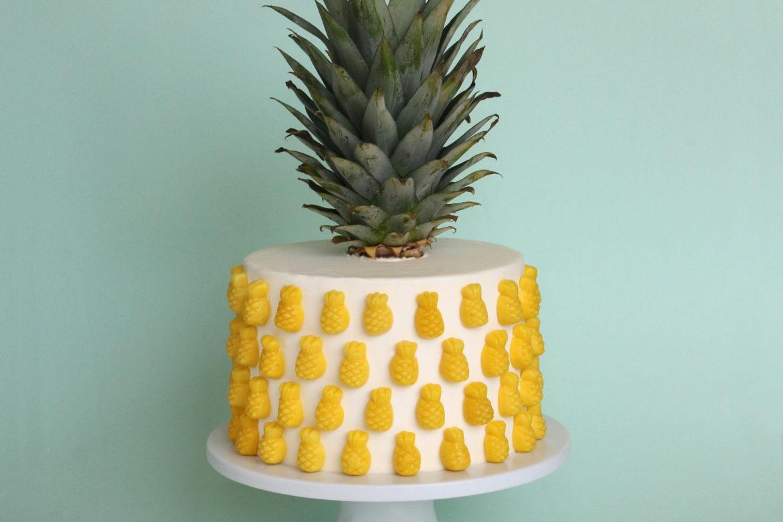 торт радуга с ананасами