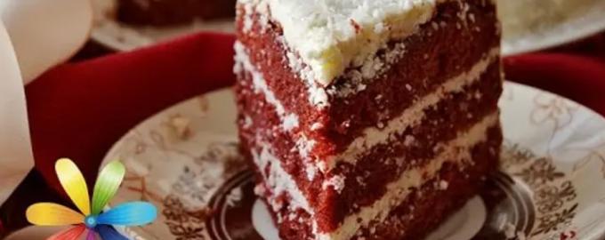 Торт с двумя разными кремами