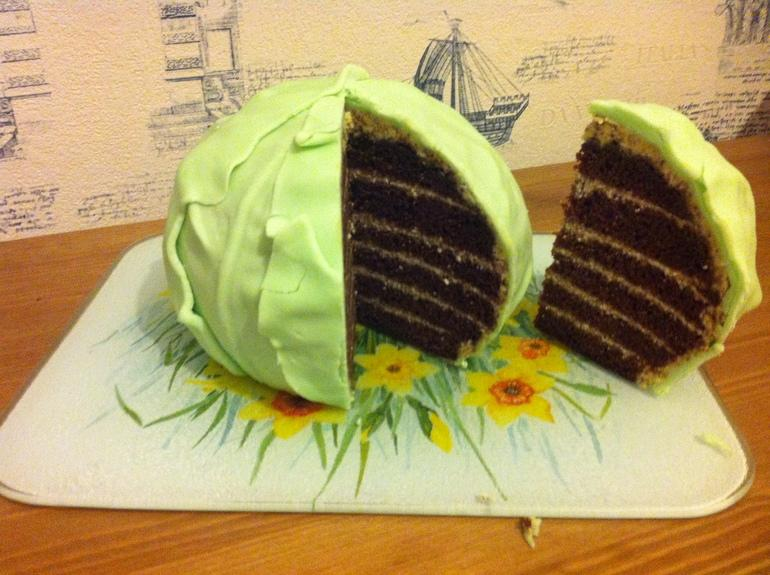 торт младенец в капусте