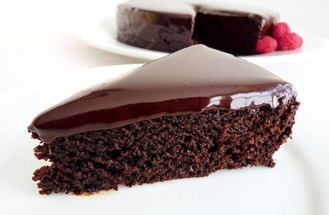 мокрый шоколадный торт без яиц