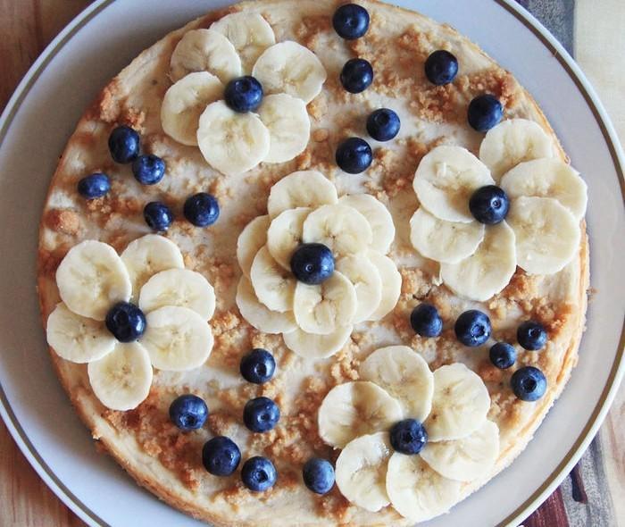 оформление торта бананами