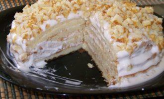 сметанного торта со сгущенкой
