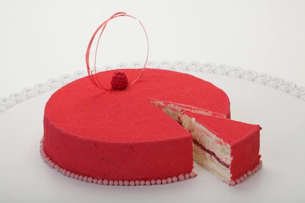 торт малиновый шифон
