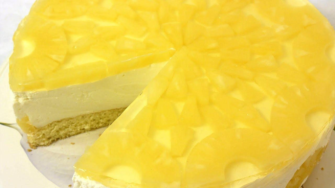 йогуртовый торт с ананасами