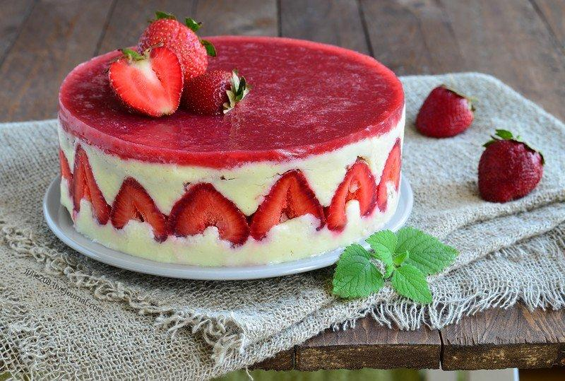 Французский клубничный торт «Фрезье»