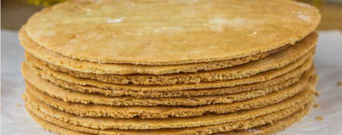 медовые коржи для торта из мастики