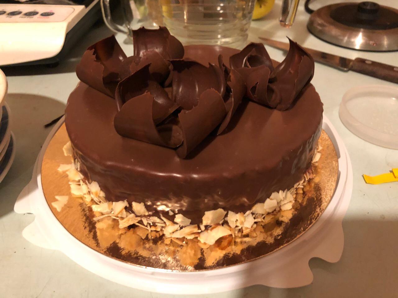 простой шоколадный торт с какао дома