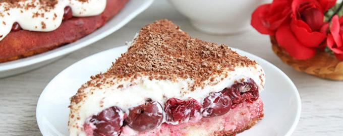 торт с вишней и маскарпоне