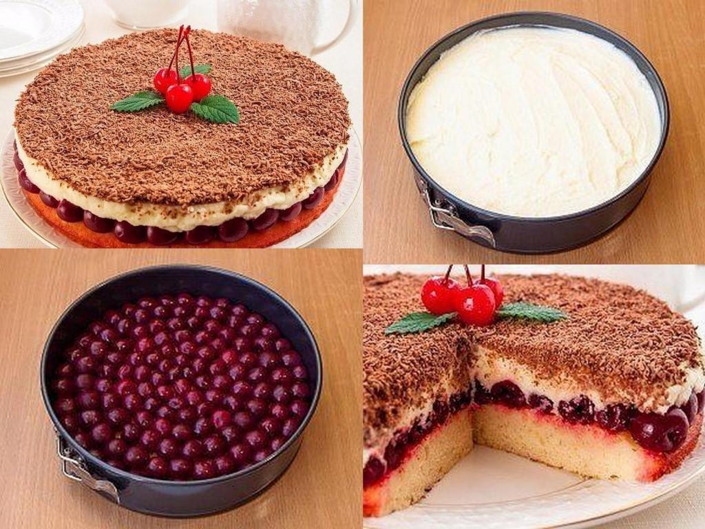 торт с вишней и маскарпоне рецепт