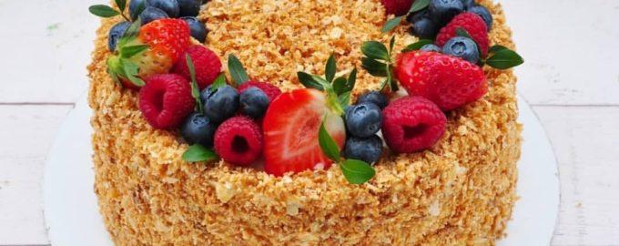торт Наполеон пошаговый простой рецепт