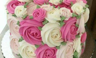 цветы из крема на торт