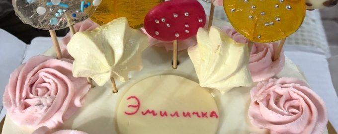 торт девочке на день рождения 7 лет